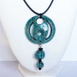 Grand collier rondeur turquoise