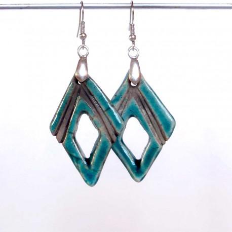 Boucles d'oreilles légères bleu turquoises