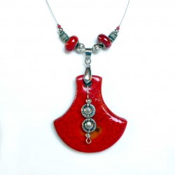 Collier original rouge lumineux