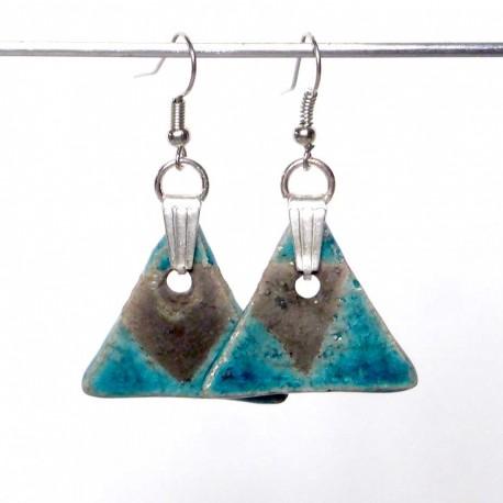Boucles d'oreilles légères triangles turquoises