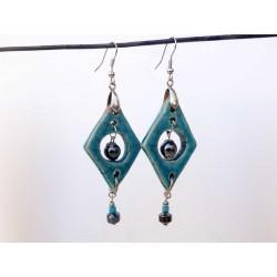 Boucles d'oreilles élégantes turquoises