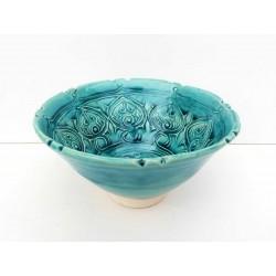 Coupelle céramique turquoise esprit médiéval