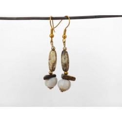 Boucles d'oreilles légères céramique et verre