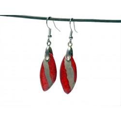 Boucles oreilles lumineuses  : navettes rouges