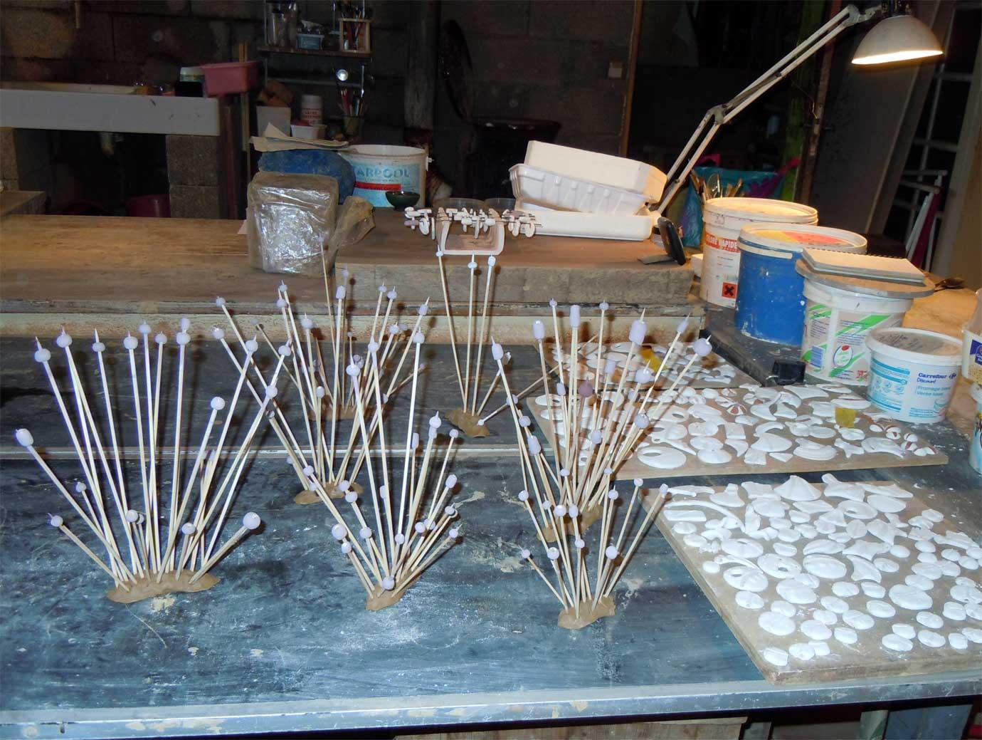 Séchage des perles émaillées