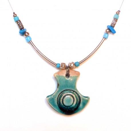Collier original turquoise fin et léger