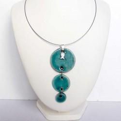 collier trio turquoise