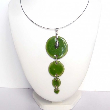 collier trio vert