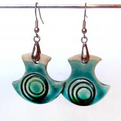 Boucles d'oreilles légères turquoises