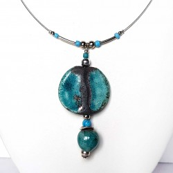 Collier duo turquoise réglable