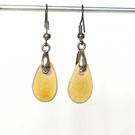 Boucles d'oreilles gouttes jaune d'or