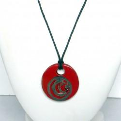 Collier réglable éclatant rouge et noir