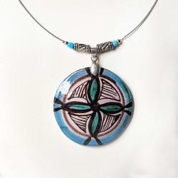 Collier  artisanal décor inspiré du Moyen-âge