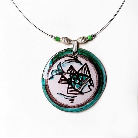 Collier  artisanal décor poisson inspiré du Moyen-âge