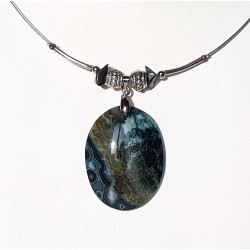 Collier chic agate mousse