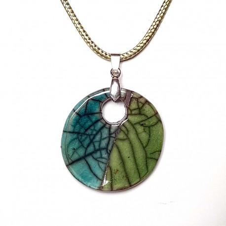 Collier unique fait main turquoise et vert