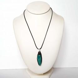 Collier scarabée bleu turquoise
