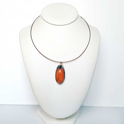 Collier scarabée orange