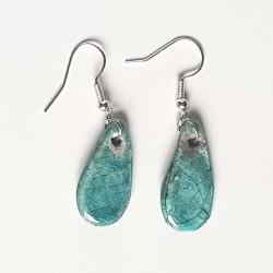 Boucles d'oreilles légèreté turquoise