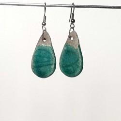Boucles d'oreilles gouttes bleues turquoises