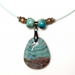 Collier en pierre naturelle chrysocolle