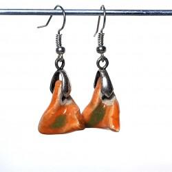 Boucles d'oreilles oranges fines et  légères