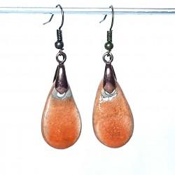 Boucles d'oreilles oranges printemps été